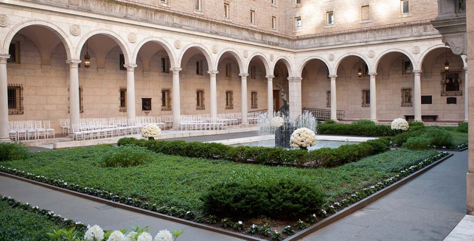 Inside: the Courtyard at the Boston Public Library