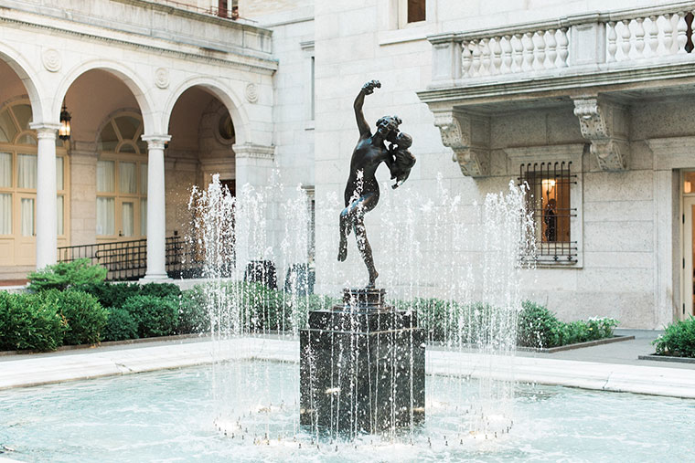 """Dancing Bacchante and Infant"" statue"